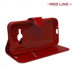 Red Line чехол книжка для Samsung Galaxy J1 2016 SM-J120F - Красный