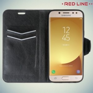 Red Line чехол книжка для Samsung Galaxy J5 2017 SM-J530F - Черный