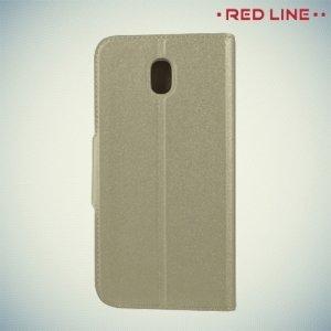 Red Line чехол книжка для Samsung Galaxy J5 2017 SM-J530F - Золотой