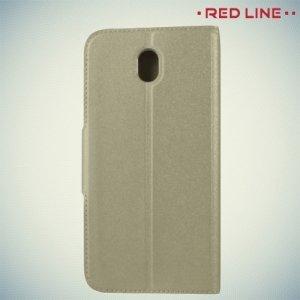 Red Line чехол книжка для Samsung Galaxy J7 2017 SM-J730F - Золотой