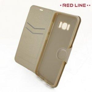 Red Line чехол книжка для Samsung Galaxy S8 - Золотой