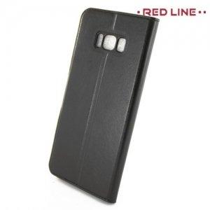 Red Line чехол книжка для Samsung Galaxy S8 Plus - Черный