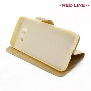 Red Line чехол книжка для Samsung Galaxy S8 Plus - Золотой