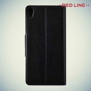 Red Line чехол книжка для Sony Xperia E5 F3311 - Черный