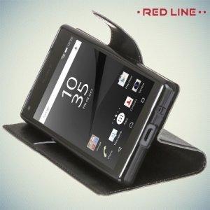 Red Line чехол книжка для Sony Xperia Z5 Compact - Черный