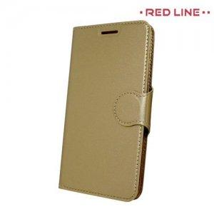 Red Line чехол книжка для Xiaomi Redmi 3s / 3 pro - Золотой