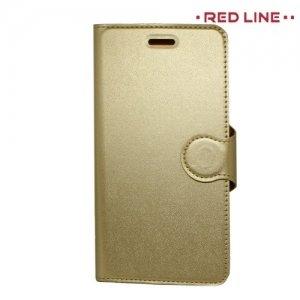 Red Line чехол книжка для Xiaomi Redmi Note 4X - Золотой