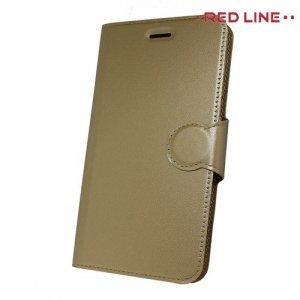 Red Line Flip Book чехол для Samsung Galaxy J4 2018 SM-J400F - Золотой