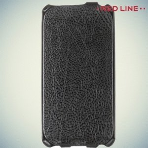 Red Line флип чехол для ASUS Zenfone 2 Lazer (Laser) ZE500KL - Черный