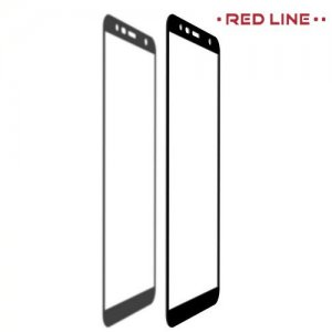 Red Line Full Glue 3D стекло для Samsung Galaxy J4 Plus с полным клеевым слоем - Черная рамка