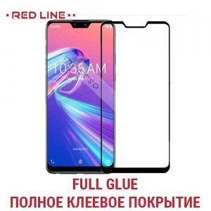 Red Line Full Glue стекло для Asus Zenfone Max Pro M2 Pro ZB631KL с полным клеевым слоем - Черная рамка