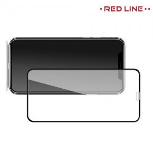 Red Line Full Glue стекло для iPhone XR / iPhone 11 с полным клеевым слоем - Черная рамка