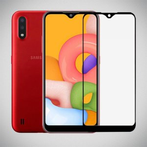 Red Line Full Glue стекло для Samsung Galaxy A01 с полным клеевым слоем - Черная рамка