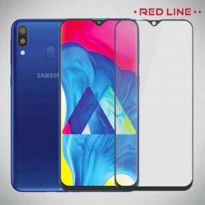 Red Line Full Glue стекло для Samsung Galaxy A50 / A30s / A30 / A20 с полным клеевым слоем - Черная рамка