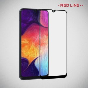 Red Line Full Glue стекло для Samsung Galaxy A70 с полным клеевым слоем - Черная рамка