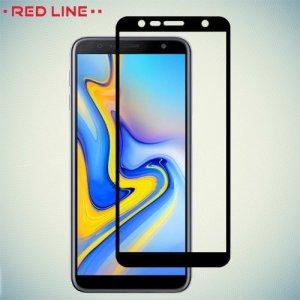 Red Line Full Glue 3D стекло для Samsung Galaxy J6 Plus с полным клеевым слоем - Черная рамка