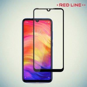 Red Line Full Glue 3D стекло для Xiaomi Redmi Note 7 / Note 7 Pro с полным клеевым слоем - Черная рамка