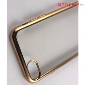 Red Line iBox Blaze силиконовый чехол для iPhone 8/7  с металлизированными краями - Золотой