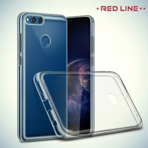 Red Line силиконовый чехол для Huawei Honor 7X - Прозрачный