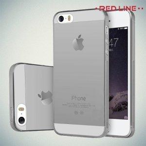 Red Line силиконовый чехол для iPhone SE - Серый