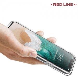 Red Line силиконовый чехол для iPhone Xs / X - Прозрачный