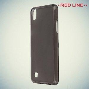 Red Line матовый силиконовый чехол для LG X Power K220DS - Черный полупрозрачный
