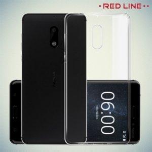 Red Line силиконовый чехол для Nokia 6 - Прозрачный