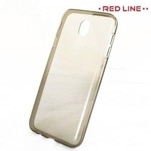 Red Line силиконовый чехол для Samsung Galaxy J7 2017 SM-J730F - Полупрозрачный черный