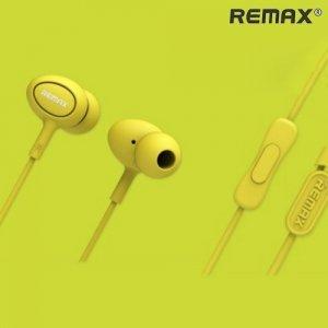 Remax RM-515 наушники гарнитура с микрофоном – Желтый