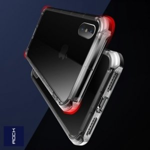 ROCK Fence Series Силиконовый защитный чехол для iPhone Xs / X - Прозрачный
