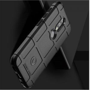 RUGGED SHIELD противоударный силиконовый чехол с усиленной защитой для Nokia 2.4 Черный