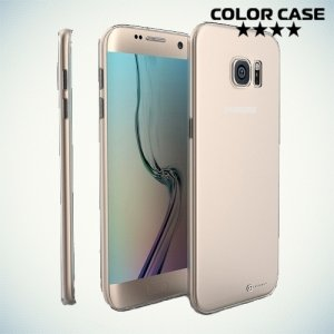 Силиконовый чехол для Samsung Galaxy S7 Edge  - Глянцевый Прозрачный