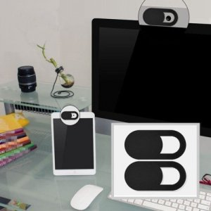 Шторка заглушка для камеры телефона и ноутбука против слежки хакеров 2шт