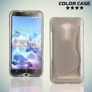 Силиконовый чехол для ASUS Zenfone 2 Laser ZE550KL - S-образный Серый