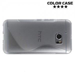 Силиконовый чехол для HTC 10 / 10 Lifestyle - S-образный Серый