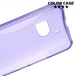 Силиконовый чехол для HTC 10 / 10 Lifestyle - S-образный Фиолетовый