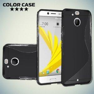 Силиконовый чехол для HTC 10 evo - S-образный Черный