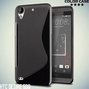 Силиконовый чехол для HTC Desire 530 / 630 - S-образный Черный