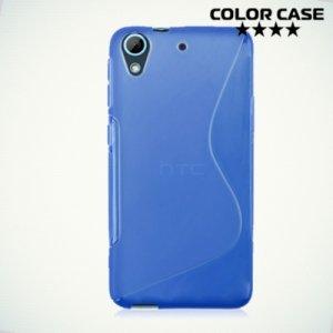Силиконовый чехол для HTC Desire 626, 626G и 628 - S-образный Синий