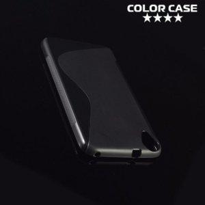 Силиконовый чехол для HTC Desire 628 - S-образный Прозрачный