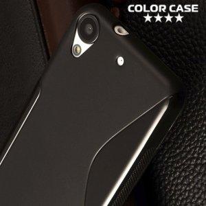 Силиконовый чехол для HTC Desire 628 - S-образный Черный