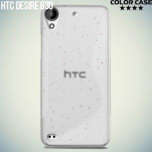 Силиконовый чехол для HTC Desire 630 - S-образный Прозрачный