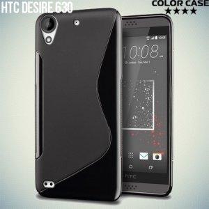 Силиконовый чехол для HTC Desire 630 - S-образный Черный