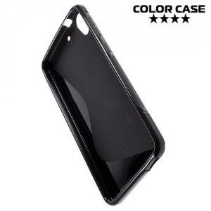 Силиконовый чехол для HTC Desire 728 и 728G Dual SIM - S-образный Черный