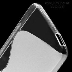 Силиконовый чехол для HTC Desire 728 и 728G Dual SIM - S-образный Прозрачный