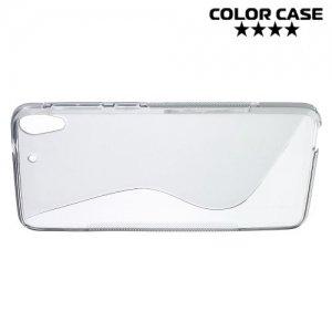 Силиконовый чехол для HTC Desire 728 и 728G Dual SIM - S-образный Серый