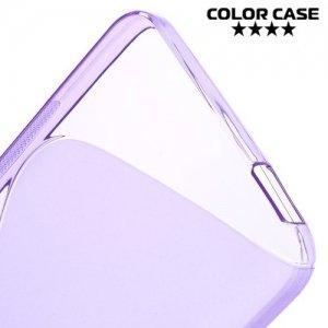Силиконовый чехол для HTC Desire 728 и 728G Dual SIM - S-образный Фиолетовый