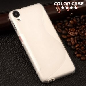 Силиконовый чехол для HTC Desire 828 - S-образный Прозрачный