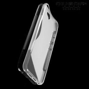 Силиконовый чехол для HTC One A9 - S-образный Прозрачный