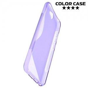 Силиконовый чехол для HTC One A9 - S-образный Фиолетовый